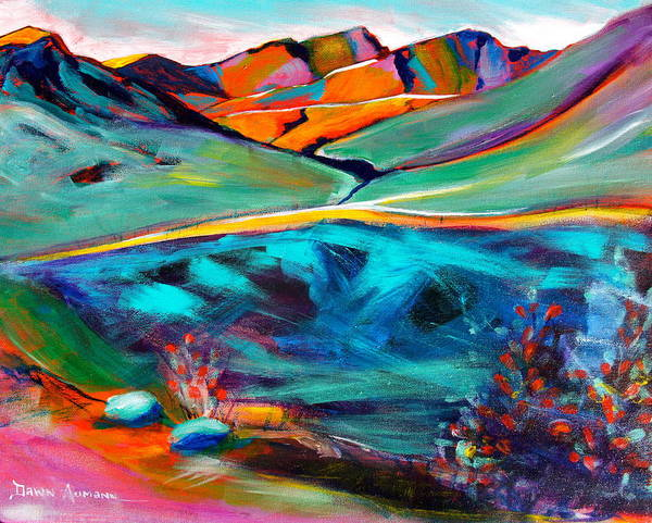 Hatcher Pass Poster featuring the painting Hatcher Pass in Full Color. by Dawn Aumann