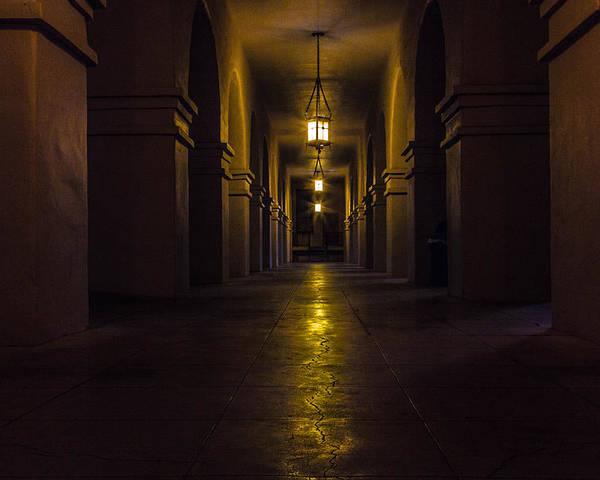 Hallway Poster featuring the photograph Haunted Hallways by Brandon Cunnigham