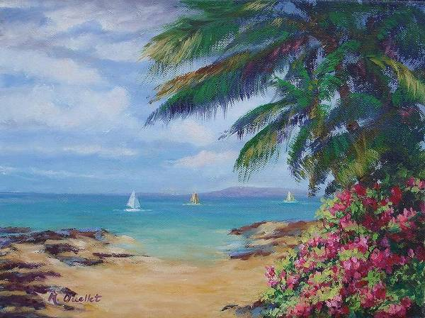 Landscape Poster featuring the painting Hawaii Calling by Maxine Ouellet