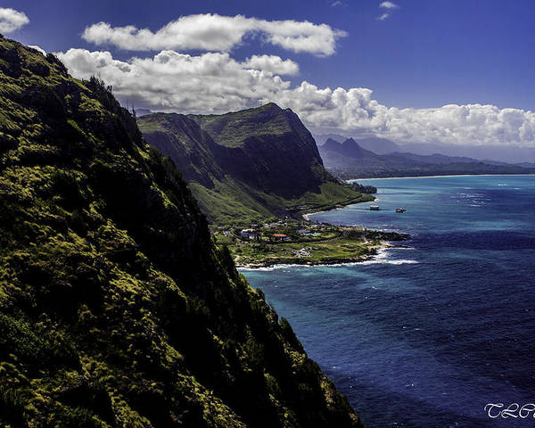 Hawaii Poster featuring the photograph Hawaii Coastline by Terry Cooper