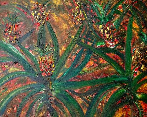 Flower Poster featuring the painting Hawaii by Modern Impressionism