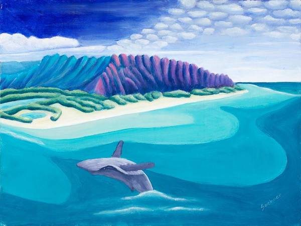 Landscape Poster featuring the painting Hawaiian Playground by Lynn Soehner