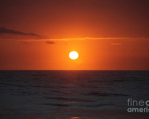 Sunrise Poster featuring the photograph Hawaiian Sunrise by Nadine Rippelmeyer