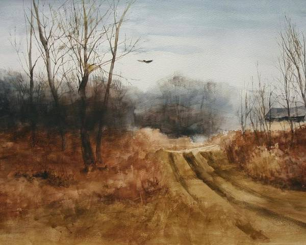 Landscapes Poster featuring the painting Hawks Nest by Don Cull