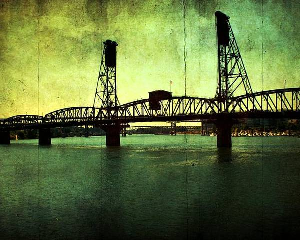 Poster featuring the photograph Hawthorne Bridge by Cathie Tyler