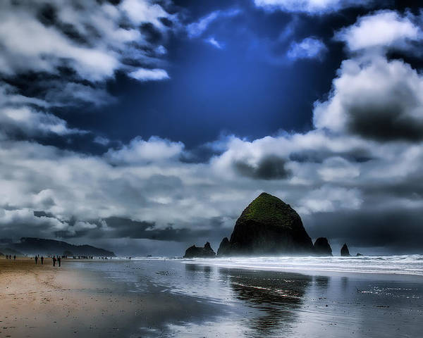 Cannon Beach Poster featuring the photograph Haystack Rock by David Patterson