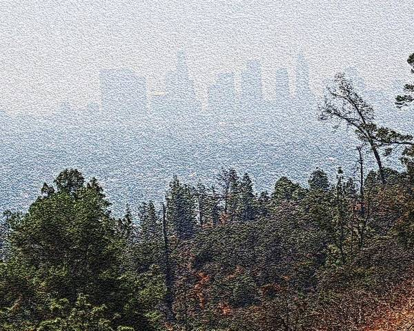 Los Angeles Skyline Poster featuring the photograph Hazy L.a. by Robert Butler