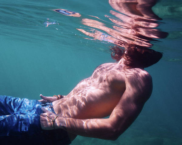 Swim Poster featuring the photograph He by Gemma Silvestre