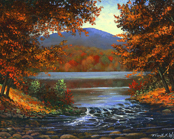 Landscape Poster featuring the painting Headwaters by Frank Wilson