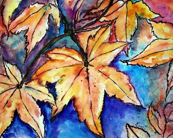 Watercolor Painting Poster featuring the painting Heart Of Fall by Robin Monroe