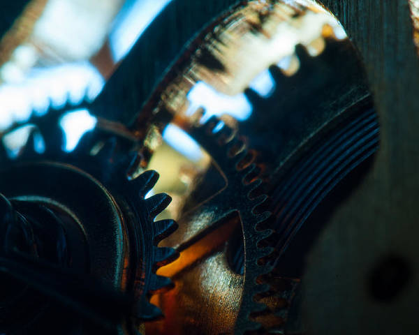 Macro Poster featuring the photograph Heart Of The Machine - Time by Matt Hicks