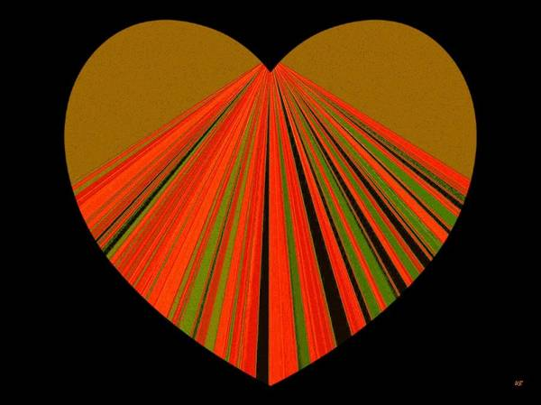 Heart Poster featuring the digital art Heartline 5 by Will Borden