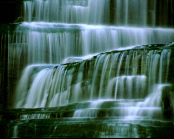 Waterfall Poster featuring the photograph Hector Falls -detail by Roger Soule