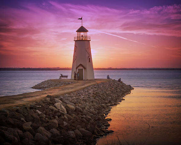 Lighthouse Poster featuring the photograph Hefner Lighthouse by Ricky Barnard