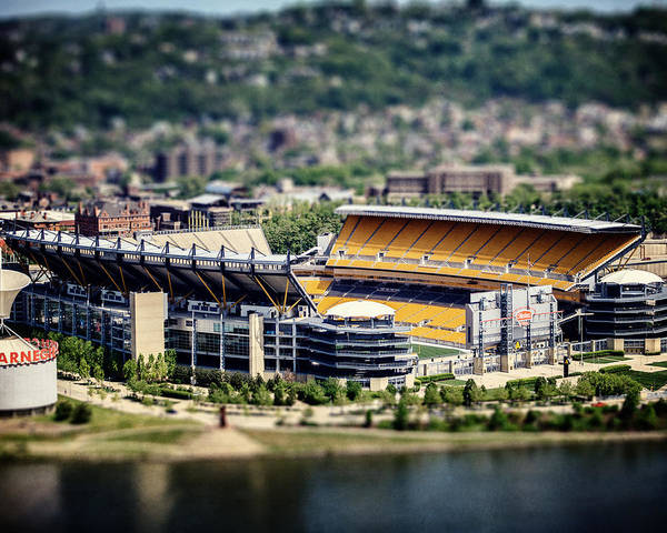 Heinz Field Poster featuring the photograph Heinz Field Pittsburgh Steelers by Lisa Russo