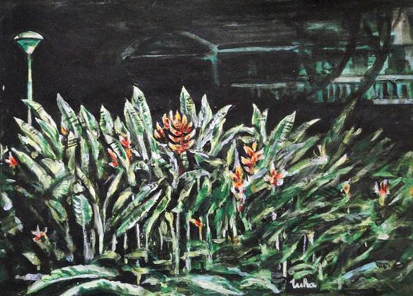 Heliconia Poster featuring the painting Heliconia 3 by Usha Shantharam