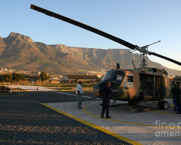 Cape Town Poster featuring the photograph Helicopter Tours Of Cape Town And Table Mountain by Andy Smy