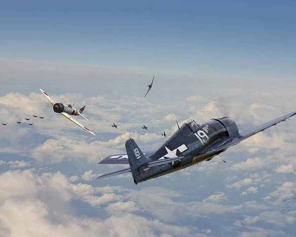 Aircraft Poster featuring the photograph Hellcat F6f - Duel In The Sun by Pat Speirs