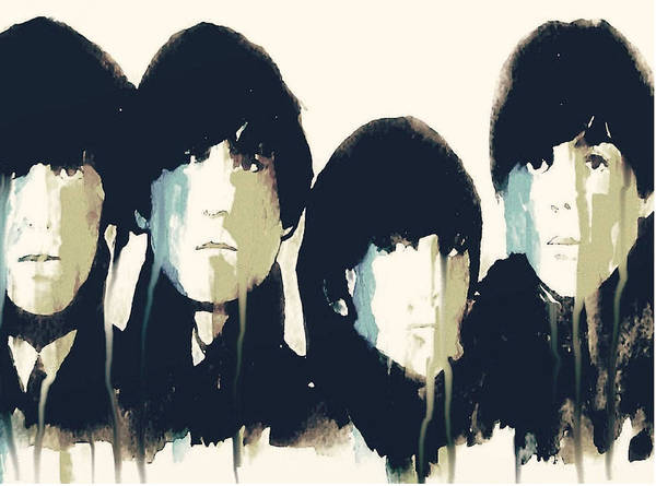The Beatles Poster featuring the painting Hello Goodbye by Paul Lovering