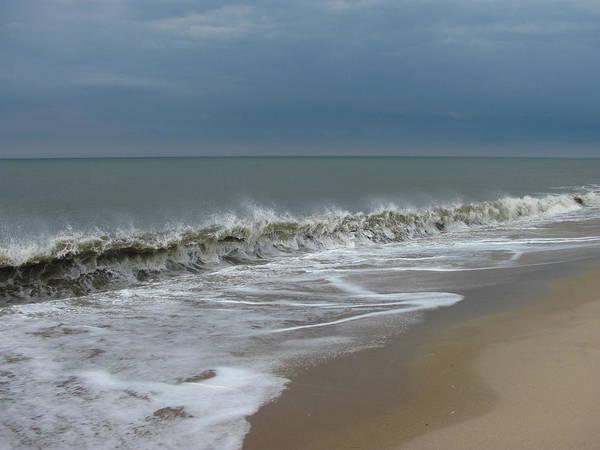 Ocean Wave Storm Seascape Coast Beach Shore Photographs Canvas Prints Poster featuring the photograph Henlopen Shore by Joshua Bales