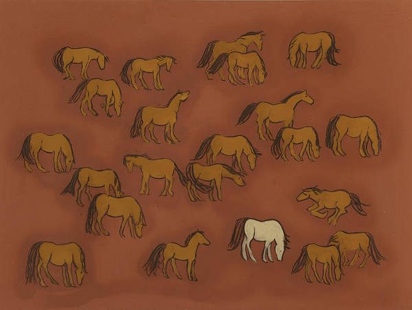Horse Herd Poster featuring the painting Herd 1 by Sophy White