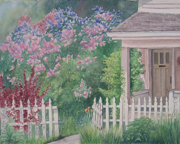 Heritage Poster featuring the painting Heritage House by Debbie Homewood