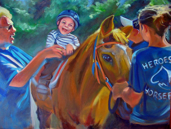 Horse Poster featuring the painting Heroes On Horseback by Kaytee Esser