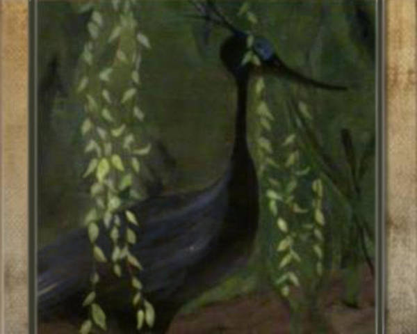Heron Poster featuring the painting Heron by Michelle Teague