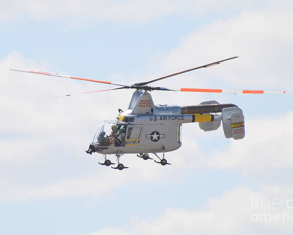 Helicopter Poster featuring the photograph Hh-43b Huskie by Larry Keahey