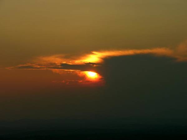 Sunset Poster featuring the photograph Hidden Fire by John Geck