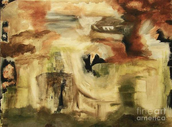Abstract Poster featuring the painting Hidden Places - Contemporary Modern Abstract Art Painting by Itaya Lightbourne