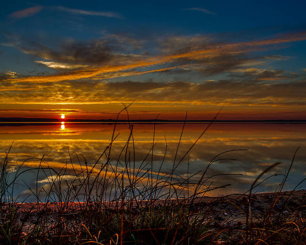 Sunsets Poster featuring the photograph Higgins Lake The Perfect Sunset by Joe Holley
