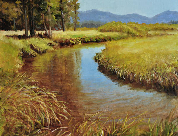 Landscape Poster featuring the painting High Country Gold by Loreen Thomas