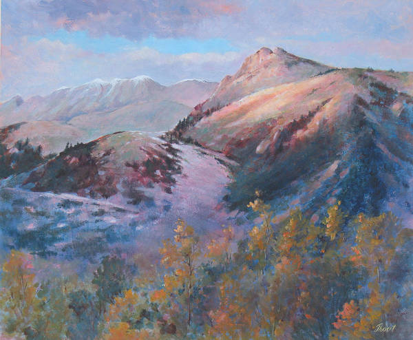Mountains Poster featuring the painting High Country Weather by Don Trout