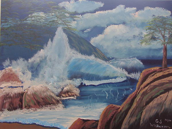 Seascape Poster featuring the painting High Noon by Gary Wilkerson
