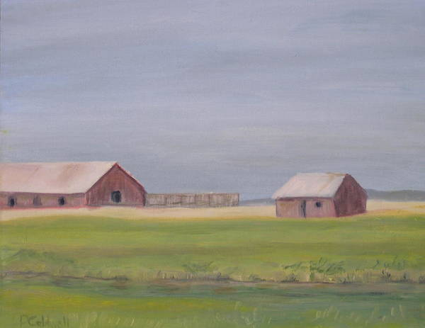 Landscape Plains Barn Poster featuring the painting High Plains by Patricia Caldwell