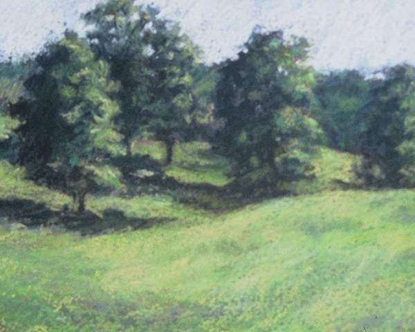 Landscape Poster featuring the painting High Summer Pasture by Dolores Holt