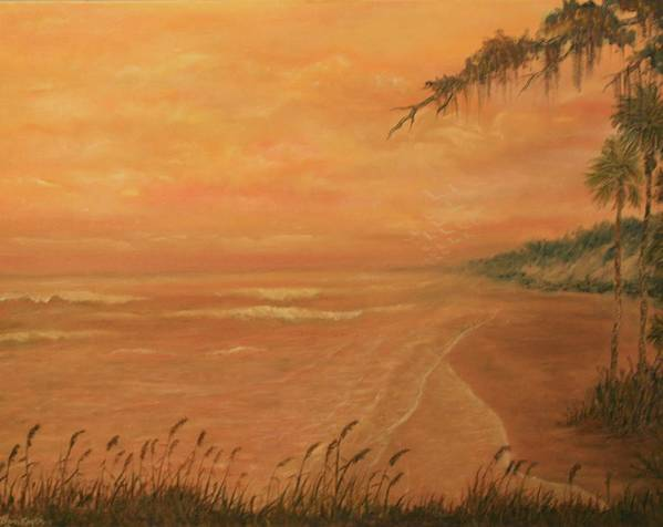 Beach; Ocean; Palm Trees; Water Poster featuring the painting High Tide by Ben Kiger