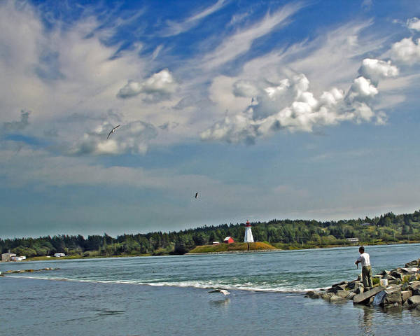 Lubec Poster featuring the photograph High Tide by Lorna Colquhoun
