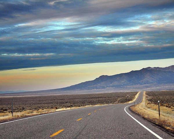 Horizontal Poster featuring the photograph Highway 130 To Minersville by Utah-based Photographer Ryan Houston
