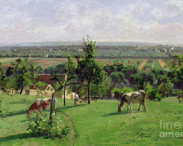 Camille Pissarro Poster featuring the painting Hillside Of Vesinet by Camille Pissarro