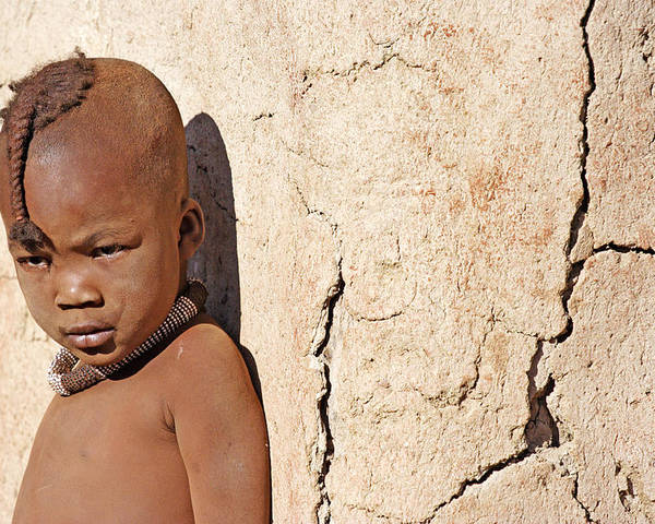 Child Poster featuring the photograph Himba Boy by Aivar Mikko