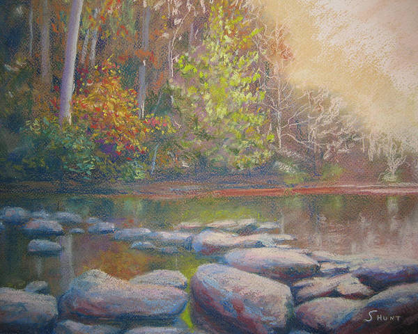 Fall Poster featuring the painting Hint Of Autumn by Shirley Braithwaite Hunt
