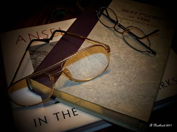 Eyeglasses Poster featuring the photograph His And Hers - A Still Life by Betty Northcutt