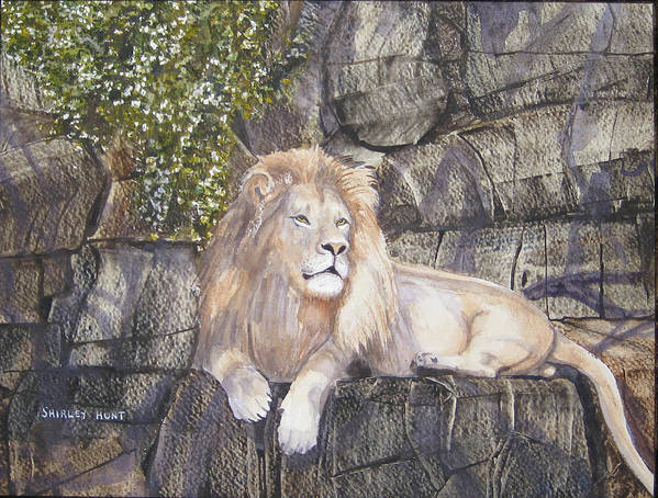 King Poster featuring the painting His Majesty by Shirley Braithwaite Hunt