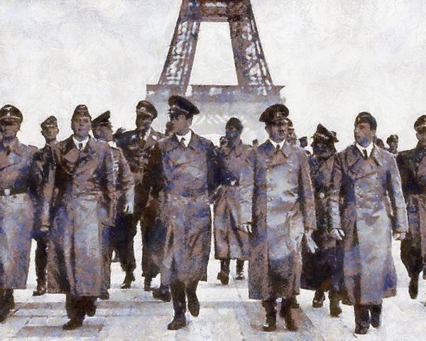 Hitler in Paris by Esoterica Art Agency