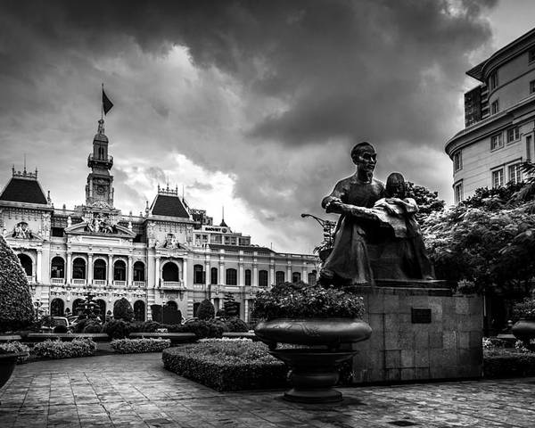 Ho Chi Minh Poster featuring the photograph Ho Chi Minh City Hall by Andrew Matwijec
