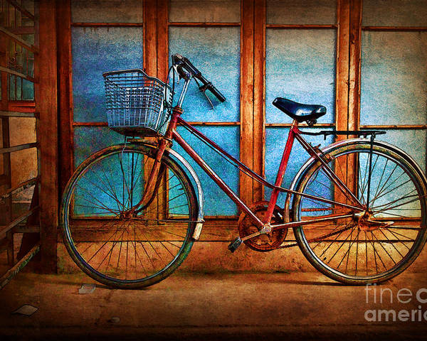 Hoi An Poster featuring the photograph Hoi An Bike by Stuart Row