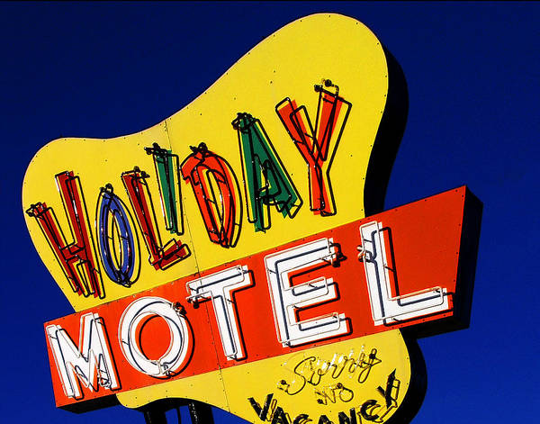 Color Poster featuring the photograph Holiday Motel by Curtis Staiger