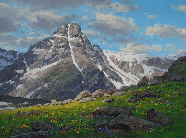 Landscape Poster featuring the painting Holy Cross Wilderness by Lanny Grant
